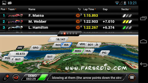 دانلود F1™ 2013 Timing App Android