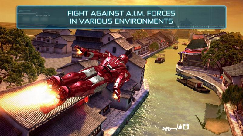 دانلود Iron Man 3 – The Official Game 1.6.9g – بازی مرد آهنی 3 برای اندروید + دیتا